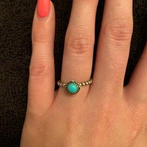 AUTHENTIC Turquoise PANDORA Ring 💍 Size 7